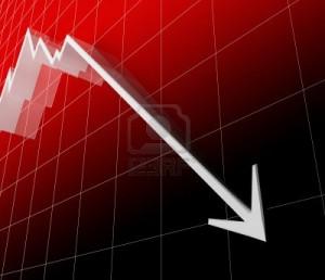 4030176-3d-rosso-finacial-stat-freccia-bianca-scendere-recessione